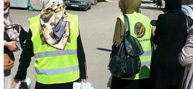 Mina Kadın Der'den Van ilinde bulunan muhtaç ailelere yardım çeki