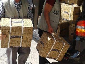 Öze Dönüş'ten İhtiyaç sahiplerine yardımlar devam ediyor